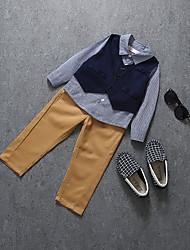 cheap -Boys' Clothing Set,Cotton Fall Long Sleeves Casual Blue