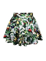 cheap -Christmas Trees Skirt Women's Christmas Festival / Holiday Halloween Costumes Green Printing