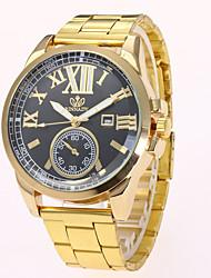 abordables -Hombre Cuarzo Reloj de Pulsera Chino Gran venta Aleación Banda Casual Reloj de Vestir Moda Dorado