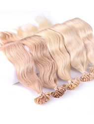 cheap -Fusion /U Tip Human Hair Extensions Human Hair Wavy Women's Daily