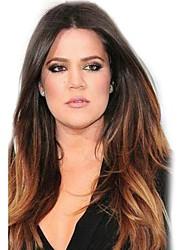 billige -MAYSU Kvinder Syntetiske parykker Meget lang Naturligt, bølget hår Mørkebrun / Mellem kastanjerød Ombre-hår Midterskilning Naturlig paryk