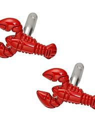 cheap -Lobster Red Cufflinks Brass Casual / Sporty Birthday Men's Costume Jewelry