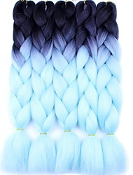 cheap -Braiding Hair Afro Jumbo Synthetic Hair 5 Pieces Hair Braids Long Ombre Braiding Hair
