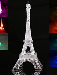 cheap -19CM Eiffel Tower LED Night Light Desk Wedding Bedroom Decorate Child Gift Lights Lamp