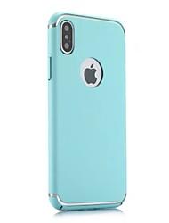 Недорогие -Кейс для Назначение Apple iPhone X / iPhone 8 Plus Защита от удара / Ультратонкий Кейс на заднюю панель Однотонный Твердый ПК для iPhone X / iPhone 8 Pluss / iPhone 8
