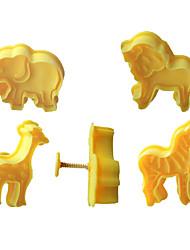 abordables -4pcs biscuit plongeur coupe biscuit fondant moule à gâteau 3d animal éléphant sugarcraft décor artisanat