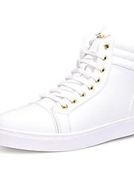 abordables -Hombre Zapatos Semicuero Primavera Otoño Confort Zapatillas de deporte Para Casual Blanco Negro