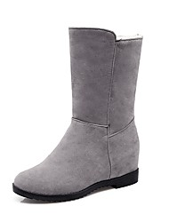 cheap -Women's Shoes Leatherette Fall Winter Fashion Boots Boots Round Toe Booties/Ankle Boots Buckle For Casual Dress Green Red Gray Black