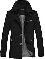 Men's Going out Casual/Daily Casual Street chic Punk & Gothic Winter Fall Trench coat