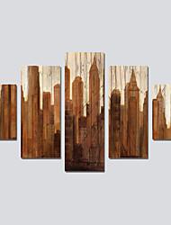 Tela de impressão Modern,5 Painéis Tela Pintura a Óleo Decoração de Parede For Decoração para casa