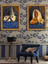 economico -Natura morta Tempo libero Tele con cornice Set con cornice Decorazioni da parete,PVC Materiale con cornice For Decorazioni per la casa