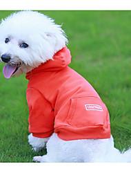 economico -Cane Felpe con cappuccio Abbigliamento per cani Capodanno Compleanno Casual Di tendenza Nero Arancione Verde Costume Per animali domestici