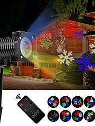 Christmas Projector Lights Waterproof Colorful Projective Courtyard LED Lamp Different Themes for Halloween Holidays Birthday Party with 10 Slides