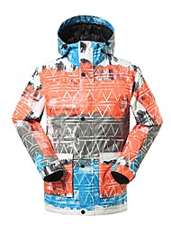 cheap -GSOU SNOW Men's Ski Jacket Warm Waterproof Windproof Wearable Breathability Skiing Ski / Snowboard Eco-friendly Polyester Silk Cloth