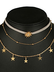 cheap -Women's Bohemian Star Layered Necklace  -  Bohemian European Gold Necklace For Party Evening Party