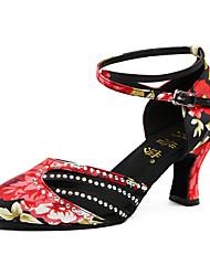 cheap -Women's Modern Leatherette Sneaker Professional Stiletto Heel Black/Red Customizable