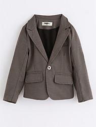 cheap -Boys' Solid Suit & Blazer,Cotton Long Sleeves Khaki