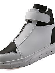 abordables -Homme Chaussures Printemps / Automne Confort Basket Marche Blanc / Noir / Rouge