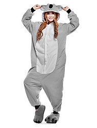 cheap -Kigurumi Pajamas Koala Onesie Pajamas Costume Polar Fleece Gray Cosplay For Adults' Animal Sleepwear Cartoon Halloween Festival / Holiday