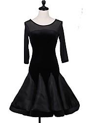 Недорогие -мы будем латинскими танцевальными платьями женского исполнения spandex 3/4 длина рукава платье