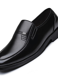 cheap -Men's Shoes Leatherette All Season Formal Shoes Loafers & Slip-Ons Trim For Wear to work Party & Evening Black