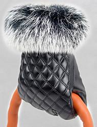 cheap -Women's Rabbit Fur PU Wrist Length Fingertips,Accessories Winter Gloves Windproof Keep Warm Waterproof Solid Winter
