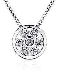 Недорогие -Жен. Снежинка форма На каждый день Elegant Ожерелья с подвесками Цирконий Сплав Ожерелья с подвесками Подарок Для вечеринок Бижутерия
