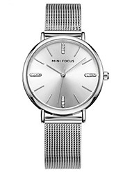 cheap -Women's Wrist Watch Water Resistant / Water Proof / Imitation Diamond Stainless Steel Band Casual / Fashion / Elegant Silver