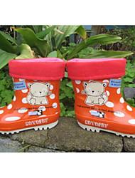 Para Meninas sapatos Borracha Outono Inverno Botas de Chuva Botas Para Casual Laranja Roxo Azul