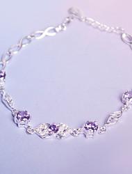 Kadın's Zincir & Halka Bileklikler Strand Bilezikler Kübik Zirconia Tatlı Zarif Zirkon Altı Tırnaklı Mücevher Uyumluluk Parti
