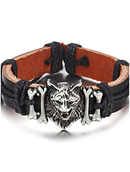 cheap -Men's Leather Bracelet - Leather Simple, Hip-Hop Bracelet Black / Brown For Daily / Casual