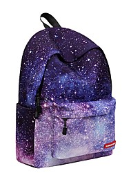 cheap -Unisex Bags Polyester Backpack Zipper for Casual Outdoor All Season Light Purple