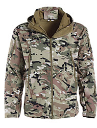 Camouflage Hunting Jacket Waterproof Ultraviolet Resistant Dust Proof Breathable Men's Women's Unisex Long Sleeves Classic Camouflage