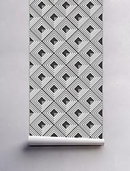 Geométrica Papel de Parede Para Casa Rústico Revestimento de paredes , PVC/Vinil Material Auto-adesivo papel de parede , Cobertura para