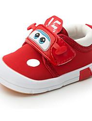 baratos -Bebê sapatos Lona Inverno Outono Conforto Primeiros Passos Tênis para Casual Preto Vermelho Azul