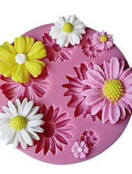 cheap -Cute Sunflower Design Silicone Candy Fondant Chocolate Sugar Mold and Cake Decorating Mould