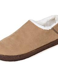 Недорогие -Жен. Обувь Кашемир Зима Зимние сапоги Мокасины и Свитер Круглый носок Ботинки для Повседневные Черный Верблюжий