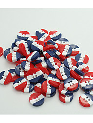 economico -100 pezzi Resina Buttons Snaps A righe Romantico Tinta unita Clothing Accessories