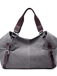 preiswerte -Damen Taschen Leinwand Umhängetasche Reißverschluss für Veranstaltung / Fest Normal Winter Herbst Blau Grau Purpur Kaffee Khaki