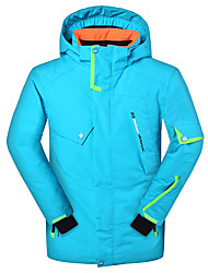 Phibee Veste de Ski Garçon Ski Sports d'hiver Sports de neige Après Ski Chaud Séchage rapide Pare-vent Vestimentaire Respirabilité