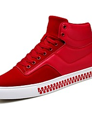 preiswerte -Herrn Schuhe PU Winter Komfort Sneakers Schwarz / Grau / Rot