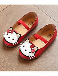 Fille Chaussures Polyuréthane Printemps Automne Confort Chaussures de Demoiselle d'Honneur Fille Ballerines Pour Décontracté Blanc Rouge