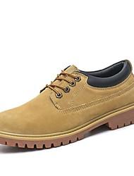 abordables -Homme Chaussures Similicuir Daim Printemps Automne Confort Oxfords pour Décontracté Jaune Kaki