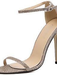 preiswerte -Damen Schuhe Lackleder Sommer Herbst Gladiator Sandalen Peep Toe Für Kleid Party & Festivität Gold Schwarz