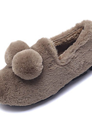 cheap -Women's Shoes PU Spring Fall Comfort Slippers & Flip-Flops for Outdoor Black Pink Khaki