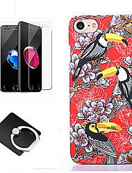 economico -Custodia Per Apple iPhone 8 iPhone 8 Plus Fantasia/disegno Custodia posteriore Animali Fiore decorativo Resistente PC per iPhone 8 Plus