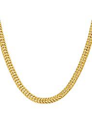 Недорогие -Жен. форма металлический Хип-хоп Ожерелья-цепочки Струнные ожерелья Медь Позолота Ожерелья-цепочки Струнные ожерелья Для вечеринок