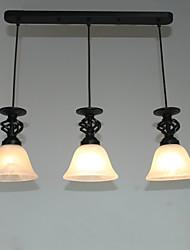 Недорогие -Традиционный/классический Подвесные лампы Рассеянное освещение Назначение Столовая Коридор кафе 110-120Вольт 220-240Вольт Лампочки не