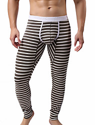 preiswerte -Herrn Sexy Druck, Gestreift - Lange Unterhosen 1 Stück