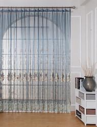 abordables -Tringle oeillets Onglet supérieur Plis double Le traitement de fenêtre Décontracté Moderne Transitoire Géométrique Chambre à coucher